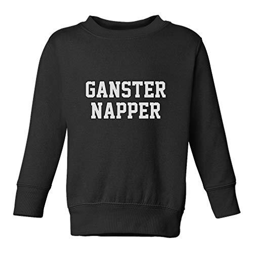 Ganster Napper Long Sleeve Taped Neck Toddler Boys-Girls Cotton/Polyester Cute Sweatshirt - Black, 3T ()