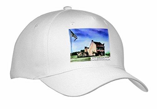 [Scenes from the Past Magic Lantern - Betsy Ross House Philadelphia Pennsylvania American Flag Vintage - Caps - Adult Baseball Cap] (Betsy Ross Hat)