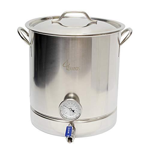 (10 Gallon Brew Kettle Home Brewing Kit - 40 Qt Boil Pot, Kettle Valve, False Bottom Brewing Kettle, Home Brew Kettle)