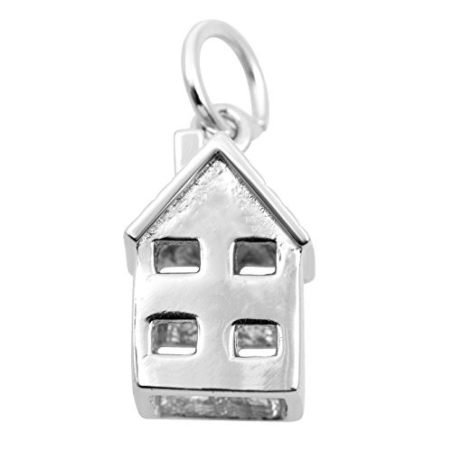 Necklace & Bracelet Charms – Travel & Places Themed Sterling Silver Jewelry by Silver on the Rocks (House Charm Silver Sterling)