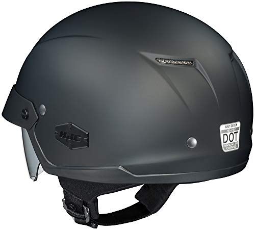 HJC Solid IS-Cruiser Half (1/2) Shell Motorcycle Helmet - Matte Black/Large ()
