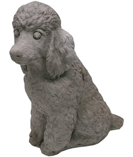 Solid Rock Stoneworks Sitting Poodle 11 Tall Graphite Color Garden Outdoor