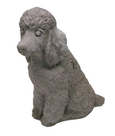Solid Rock Stoneworks Sitting Poodle 11″ Tall flint color For Sale