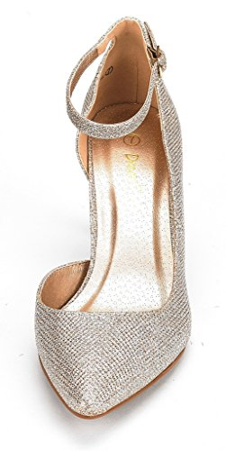 Dream Pairs Mujeres Ideal Low Heel Dress Zapatos De Bomba Gold Glitter