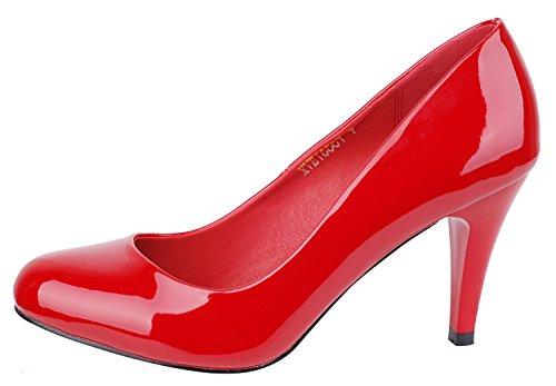 Verocara  Cx16001,  Damen Sneaker Low-Tops B-Red patent
