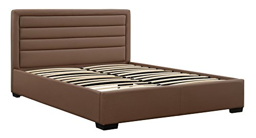 DHP 4018317 Manhattan Premium Faux Leather Bed, Taupe, Full