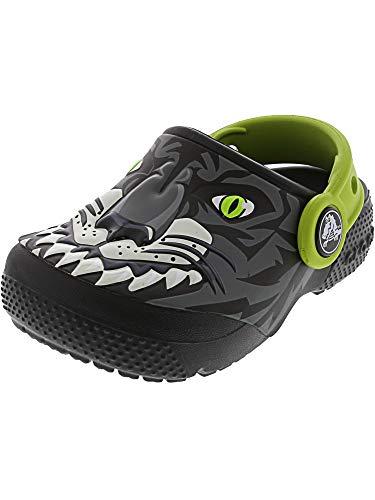 Crocs Kids' Fun Lab Boys Graphic Clog, Tiger/Graphite, 5 M US Toddler