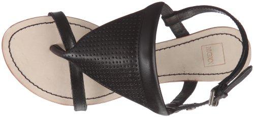 black Toestrap Sandalias Para Mujer Mexx Cuero Vestir Yael De schwarz Sandal Negro F7re0098 7ZwOqB