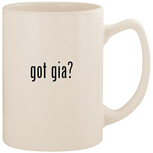got gia? - White 14oz Ceramic Statesman Coffee Mug Cup