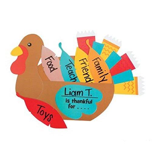 Thanksgiving Thankful Turkey Craft Kit - Makes (Thankful Turkey Craft)