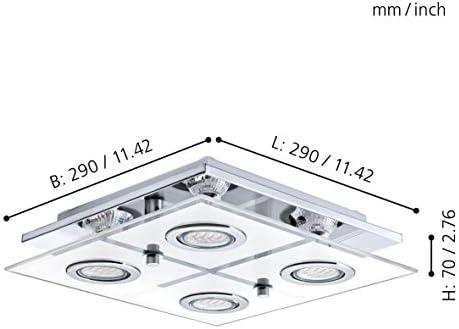 EGLO CABO Deckenleuchte, Edelstahl, GU10, 3 W, chrom
