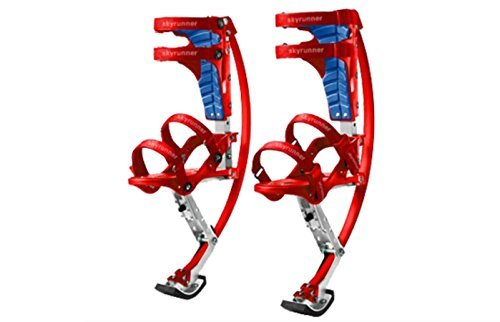 Iconiciris Kids/Child Youth Kangaroo Shoes Jumping Stilts Fitness Exercise (66-110lbs/30~50kg)(red)
