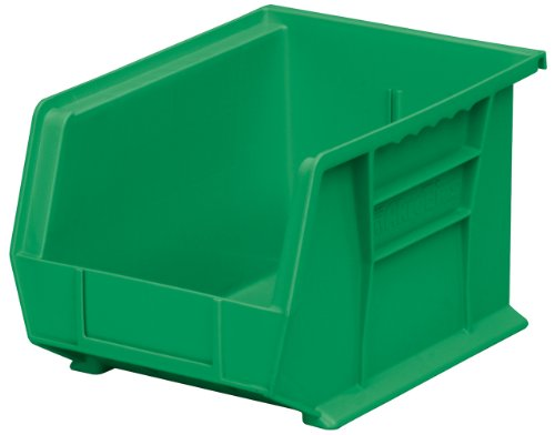 (Akro-Mils 30239 Plastic Storage Stacking Hanging Akro Bin, 11-Inch by 8-Inch by 7-Inch, Green, Case of 6)