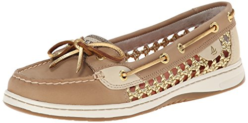 Sperry Top-Sider Women's Angelfish Cane Boat Shoe Linen/Gold