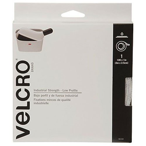 VELCRO Brand - Industrial Strength Low Profile - 10' x 1' Tape - Black