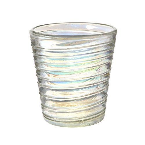Amici Home, 7MCR354S6R, Perla Luster Double Old Fashioned Drinking Glass, Iridescent Shine, Recycled Handblown Artisanal Mexican Tabletop Glassware, 12 Ounce Capacity, Set of 6 ()
