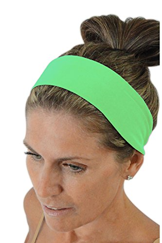 Ice cream INTENSITY Verde Fluo Green Workout Sweatband: No slip, Antibacterial, Hypoallergenic and Thermo Regulating