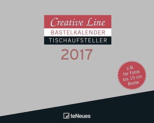 Bastelkalender Tischaufsteller quer 2017 - Creative Line, Kreativ, Kalender  -  16 x 20 cm