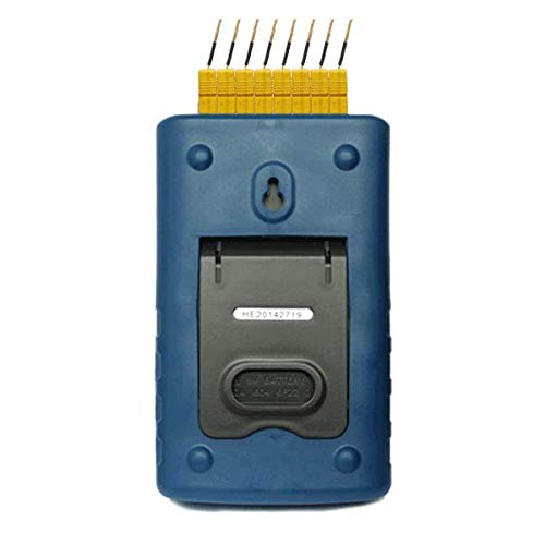 MeterTo S220-T8 USB LCD Multi-Channel Thermocouple Thermometer Temperature Data Logger 8 Channels -200~+1800℃ ºC or ºF Supporting K,J,E,T,R,S,N,B Thermo-Hygrometer Recording 36,000