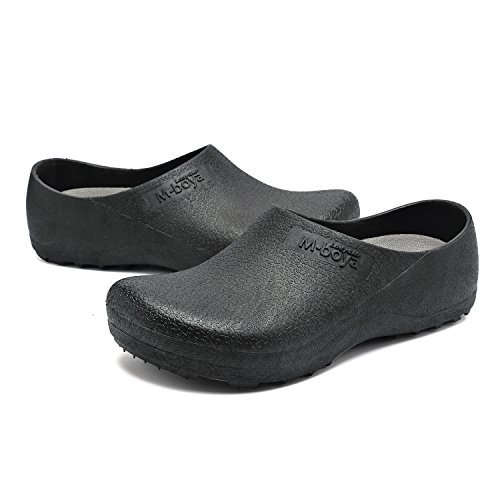 for for EASTSURE US Slip Nurse Women Resistant Work Shoes Slip Black Shoes Men Kitchen Chef Non 37 6 EU nw71xBwg