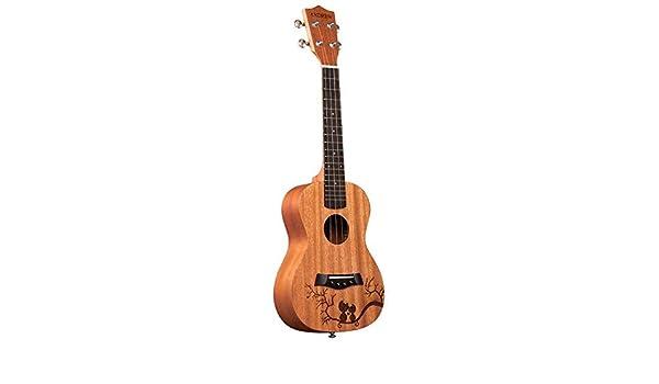 Loivrn Guitarra acústica hecha a mano for principiantes 1/2 tamaño ...