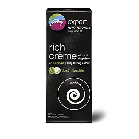 2dd94de495651 Buy Godrej Expert Rich Crème Hair Colour, Natural Black, 62g+50ml (Multi  Application Pack) Online at Low Prices in India - Amazon.in