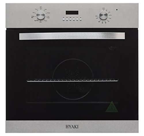 Black and stainless steel modern wall oven
