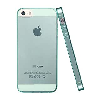 ESR Ultra Thin Jelly Series Slim 0.5mm Soft TPU Back Cover Snap on Case for iPhone 5 / 5S (Green)