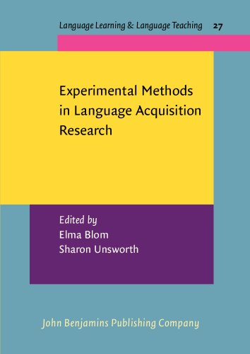 Experimental Methods in Language Acquisition Research (Language Learning & Language Teaching)