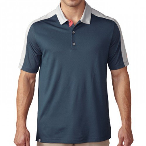 Block Pique (adidas Golf Men's Climacool Pique Geo Block Polo Shirt, Mineral Blue/Stone,)