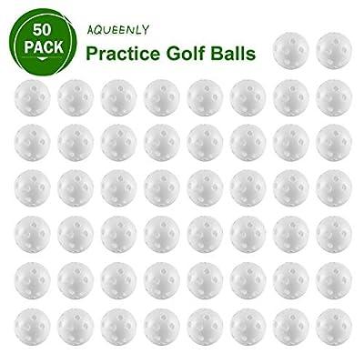 AQUEENLY 50 Pack PracticeGolfBalls