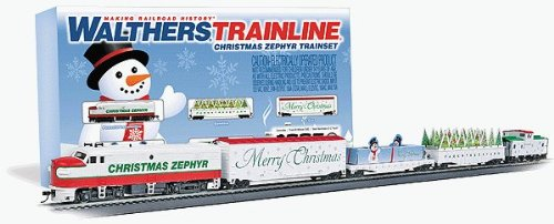 Ho Christmas Train.Amazon Com Walthers Trainline Ho Christmas Zephyr Train Set