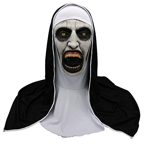 certainPL Cosplay Scary Horrible Nun Mask Melting Face Latex Costume Mask (A) ()