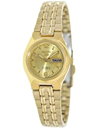 Seiko Women's 5 Automatic SYMK36K Gold Stainless-Steel Automatic Watch with Gold Dial