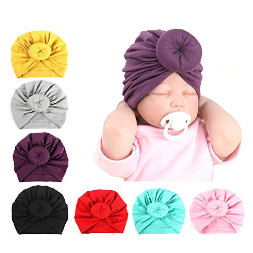 Upsmile Baby Girl Hat Newborn Hospital Hat Infant Turban Nursery Beanie Headwrap