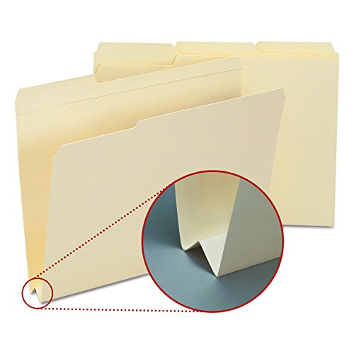 Smead 10405 Heavyweight File Folders, 1/3 Tab, 1 1/2 Inch Expansion Letter, Manila (Box of 50)