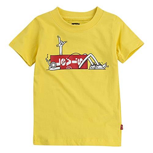 Levi's Boys' Graphic Logo T-Shirt,Habanero Gold,2T