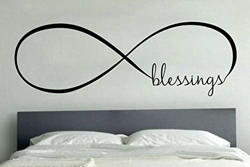Waldenn Blessings Infinity Love Wall Art Decal Quote Words Lettering Home Decor DIY | Model DCR - 1377 -