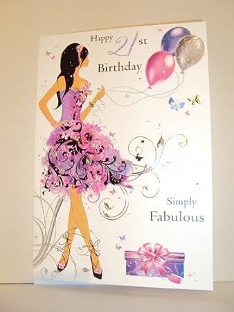 21st birthday card jj8795 gorgeous girl amazon office 21st birthday card jj8795 gorgeous girl bookmarktalkfo Choice Image