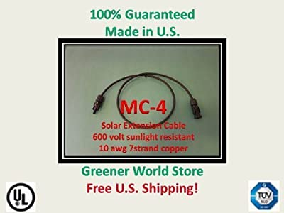 75 Foot Mc4 Solar Cable for Photovoltaic Solar Panels Solar Cable 75 Foot 10awg Mc4 Connectors At Each End Greener World Store Products by Greener World Store Products