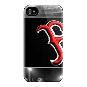 Iphone 4s EEQ4s402JsUj Support Personal Customs Colorful Boston Red Sox Image Protective Phone Covers -JamieBratt