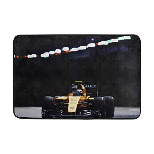 Formula Renault Racing - Renault Formula 1 Palmer Racing Doormat Indoor Outdoor Entrance Floor Mat Bathroom 23.6 X 15.7 Inch