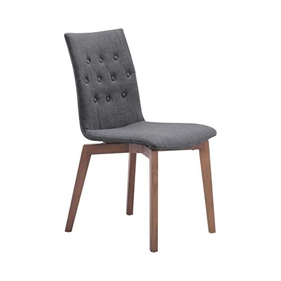 Zuo Modern Orebro Dining Chair, Graphite, (Set of 2) - Solid blend of fashion and function Perfect around a square dining table or in the corner of a living room Polyblend and Solid Wood materials - kitchen-dining-room-furniture, kitchen-dining-room, kitchen-dining-room-chairs - 41wSjxhtFjL. SS570  -