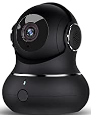 Indoor Security Camera 1080P, DJHH Baby Camera Surveillance Indoor Camera for Pet/Baby/Elderly 2.4Ghz WiFi Camera with Night Vision, 2 Way Audio, Motion Detection