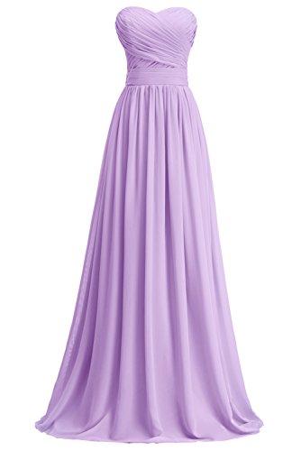 Abendkleid Linie A Lavendel Blumenmkleid Brautjungkleid Partykleid Tochter KekeHouse® Maxi Plissiert Mutter qYFPxww1