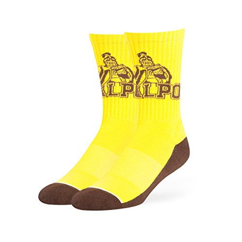 OTS NCAA Valparaiso Crusaders Anthem Sport Socks, Large, Yellow - Crusader Foot