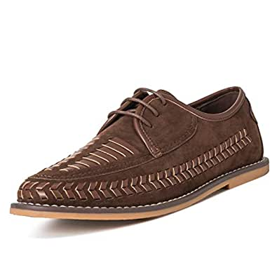 Queensbury Mens Closed-Toe Brown Size: 9