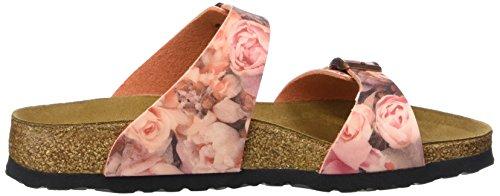 Papillio Damen Sydney Birko-Flor Pantoletten Mehrfarbig (Silky Rose Red)