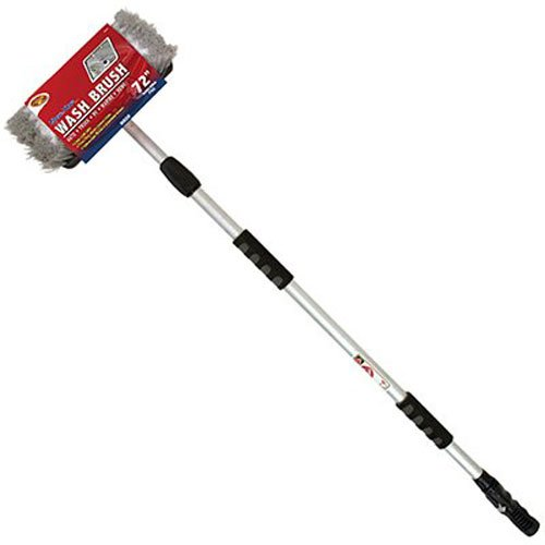 detailers-choice-4b360-tri-level-flow-thru-vehicle-wash-brush-with-72-inch-telescoping-handle-1-each