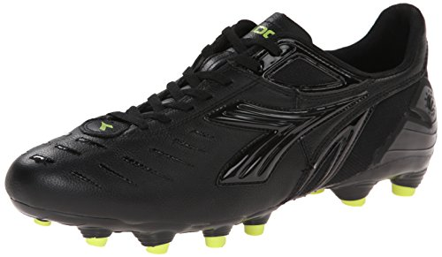 Diadora Men's Maracana L Soccer Cleat, Black/Fluorescent Yellow, 7 M (Diadora Soccer Gear)